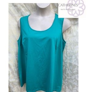 NWOT Catherine's tank top size 1X polyester/spandx
